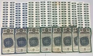 PAKIET (8szt) 6% Pożyczka Dolarowa 1920 Obligacje 50 i 100$