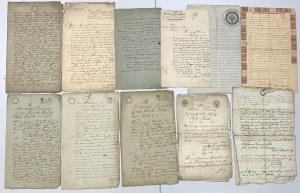 Zestaw papierów z XIX w. (11szt)
