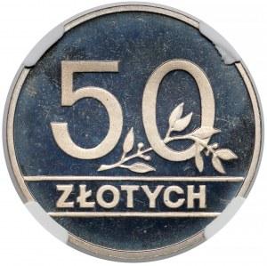 50 złotych 1990 - lustrzane