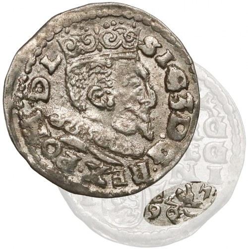 Zygmunt III Waza, Trojak Lublin 1597 - Koste - rzadkość (R7)