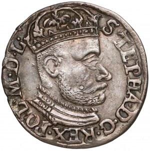 Stefan Batory, Trojak Olkusz 1582 - rozetki