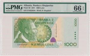 Albania, 1.000 lekë 2001