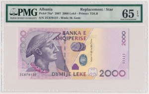 Albania, 2.000 lekë 2007 - seria zastępcza