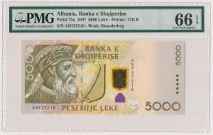 Albania, 5.000 lekë 2007