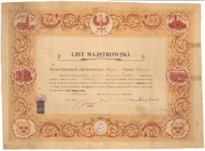 List Majstrowski, Pabianice 1923 r.
