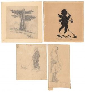 Stare grafiki - rysunki 1919 r. (4szt)