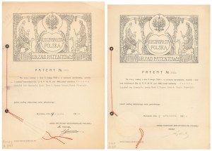 Patenty z 1925 r. (2szt)