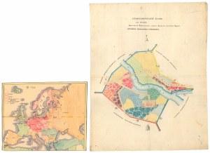 Plan fragmentu Warszawy XIX wiek i odręczna mapka z 1940 r.