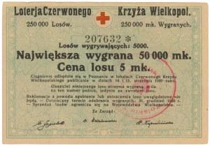 Loterja Czerwonego Krzyża Wielkopol., Los na 5 mk 1920