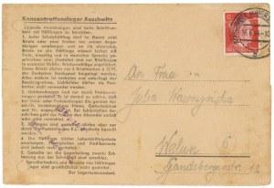 AUSCHWITZ Obóz koncentracyjny, korespondencja z obozu 04.1944