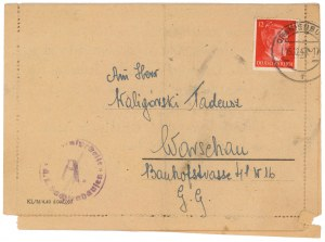 ORANIENBURG Obóz koncentracyjny, korespondencja z obozu 12.1943