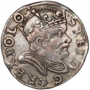 Stefan Batory, Trojak Poznań 1584 - duża głowa - rozeta