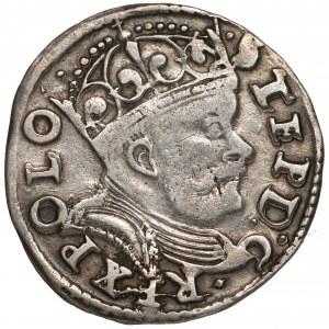 Stefan Batory, Trojak Poznań 1586 - haki z lewej