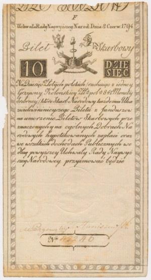 10 złotych 1794 - F - znak wodny D&C Blau[w]