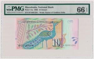 Macedonia, 10 denari 1996