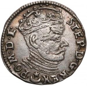 Stefan Batory, Trojak Wilno 1581 - Leliwa - duże Zęby