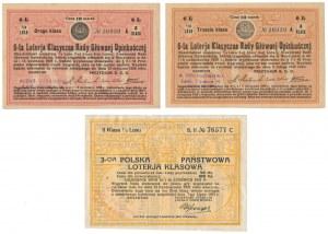 Loteria Rady Głównej Opiekuńczej i Państwowa Loteria Klasowa (3szt)