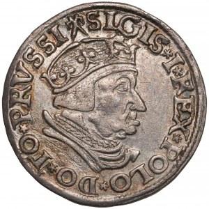Zygmunt I Stary, Trojak Gdańsk 1537 - w czepcu