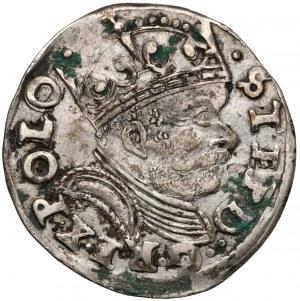 Stefan Batory, Trojak Poznań 1586 - haki z prawej