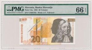 Słowenia, 20 tolarjev 1992