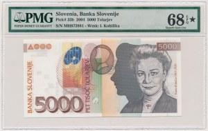 Słowenia, 5.000 tolarjev 2004