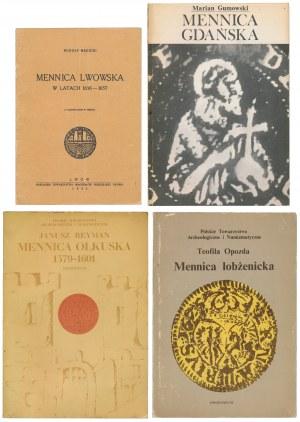 MENNICE: Olkuska, Łobżenicka, Gdańska, Lwowska 1656-57 (4szt)