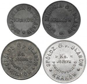 Kraków, Spółdzielnia 8. Pułku Ułanów - od 10 groszy do 1 złoty (4szt)