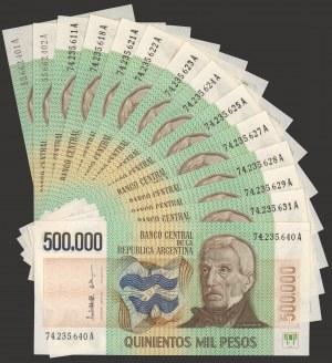 Argentyna, 500.000 pesos (1980-83) - zestaw (14szt)