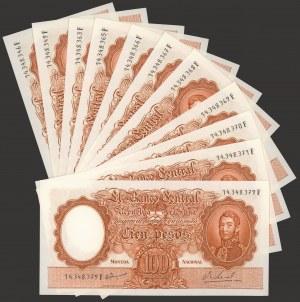 Argentyna, 100 pesos (1967-69) - zestaw (11szt)