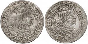 Jan II Kazimierz, Szóstaki Bydgoszcz 1666 i 1667 AT (2szt)