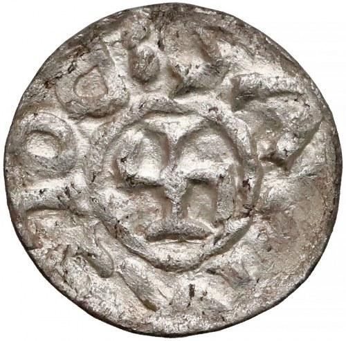 Bolesław III Krzywousty, Denar Wrocław (przed 1107) - monogram SI