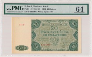20 złotych 1947 - Ser.D