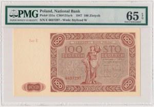 100 złotych 1947 - Ser.E - duża litera