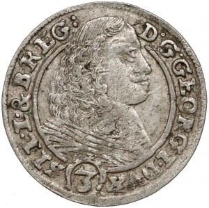 Śląsk, Jerzy III Brzeski, 3 krajcary Brzeg 1661 EW