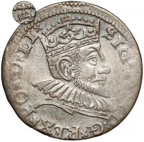 Zygmunt III Waza, Trojak Ryga 1591 - korona z jabłkiem