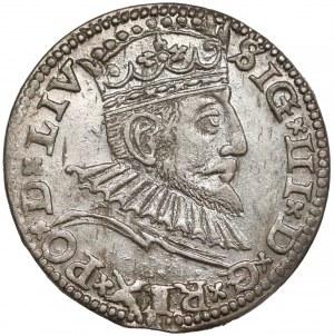 Zygmunt III Waza, Trojak Ryga 1591 - LIV (R1)