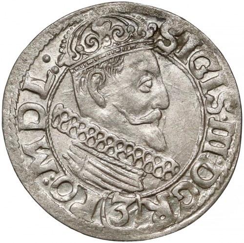 Zygmunt III Waza, 3 krucierze Kraków 1617 - piękny