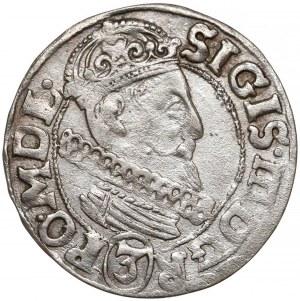 Zygmunt III Waza, 3 krucierze Kraków 1616 - Awdaniec