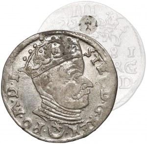 Stefan Batory, Trojak Wilno 1581 - z listkiem - b. rzadki