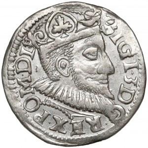 Zygmunt III Waza, Trojak Wschowa 1595 - z kratką