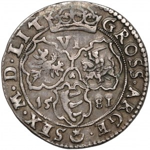 Stefan Batory, Szóstak Wilno 1581 - Platyny - b.rzadki