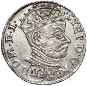 Stefan Batory, Trojak Wilno 1580 - (III) - piękny