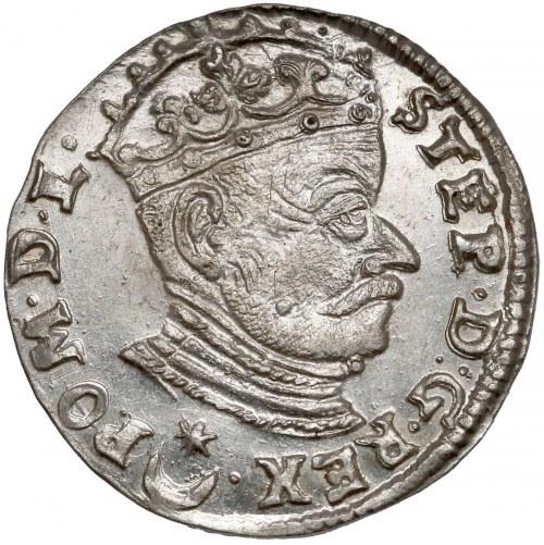 Stefan Batory, Trojak Wilno 1581 - Leliwa - piękny