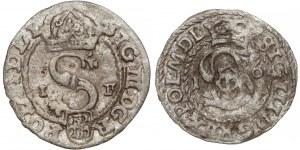 Zygmunt III Waza, Szelągi Olkusz 1590 i Poznań/Wschowa 1616 (2szt)