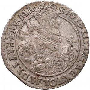Zygmunt III Waza, Ort Bydgoszcz 1621 PRV:MA - przebitka O/V