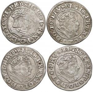 Zygmunt I Stary, Grosze Gdańsk 1531 i 1540 (4szt)
