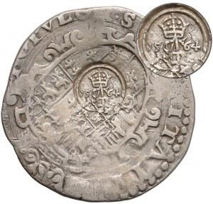 Zygmunt II August, Złoty polski 1564 kontrasygnowany na patace (sumy neapolitańskie)