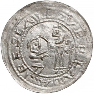 Bolesław III Krzywousty, Brakteat Protekcyjny (~1135 r.)