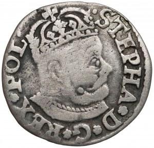 Stefan Batory, Trojak Olkusz 1580 - bez herbu podskarbiego - rzadki
