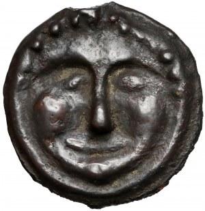 Grecja, Scytia, Olbia, AE28 - Gorgona - b. rzadki